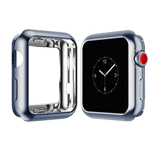 Apple Watch Case for Series 3, Series 2, Series 1 38mm 42mm, Icesnail Apple Watch Plate Soft Slim Protective Cover Bumper for iWatch Nike+, Sport, Edition All Models, 42mm Gray