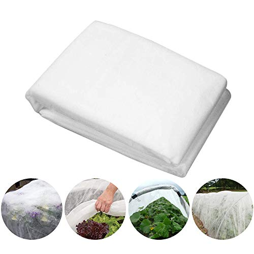 HGMart Heavy Floating Row Cover Garden Fabric Plant Cover Outdoor Frost Protection Blanket for Winter Frost Cold, 0.55oz 5 50 ,White