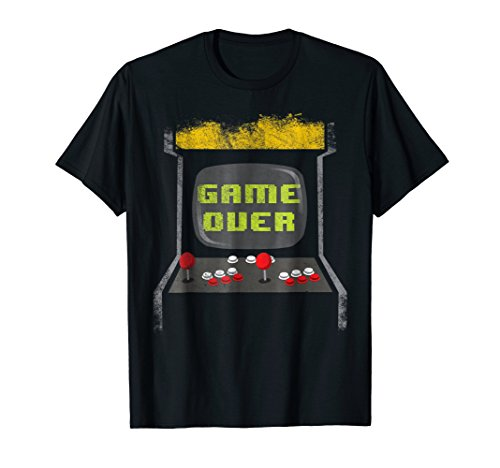 Vintage Game Over 80s Classic Retro Arcade Video Game Shirt