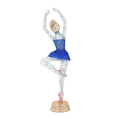 Twinkling Tinsel Ballerina LED Lighted 78 Inch Indoor/Outdoor Decor by Home Accents Holiday (Image #4)
