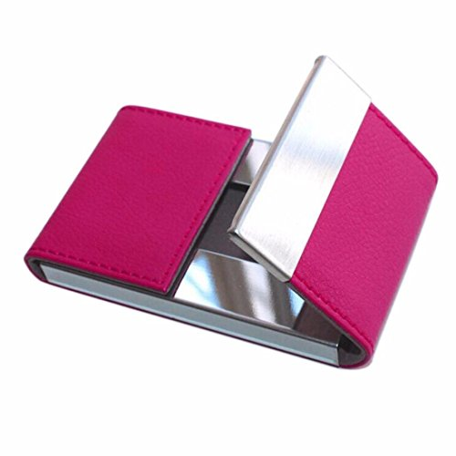 Mikey Store Credit Card Package Card Holder Double Open Business Card Case (Hot Pink)