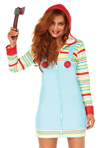 Leg Avenue Women's Cozy Killer Doll Halloween Costume, Multi, Large for $<!--$27.00-->