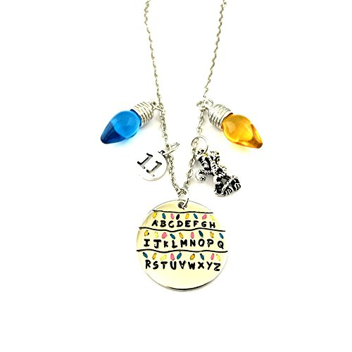 Fraternity Party Halloween Costumes (J&C Family Owned Brand Classic TV Series Stranger Things With Blue and Yellow Bulbs Necklace w/Gift Box)