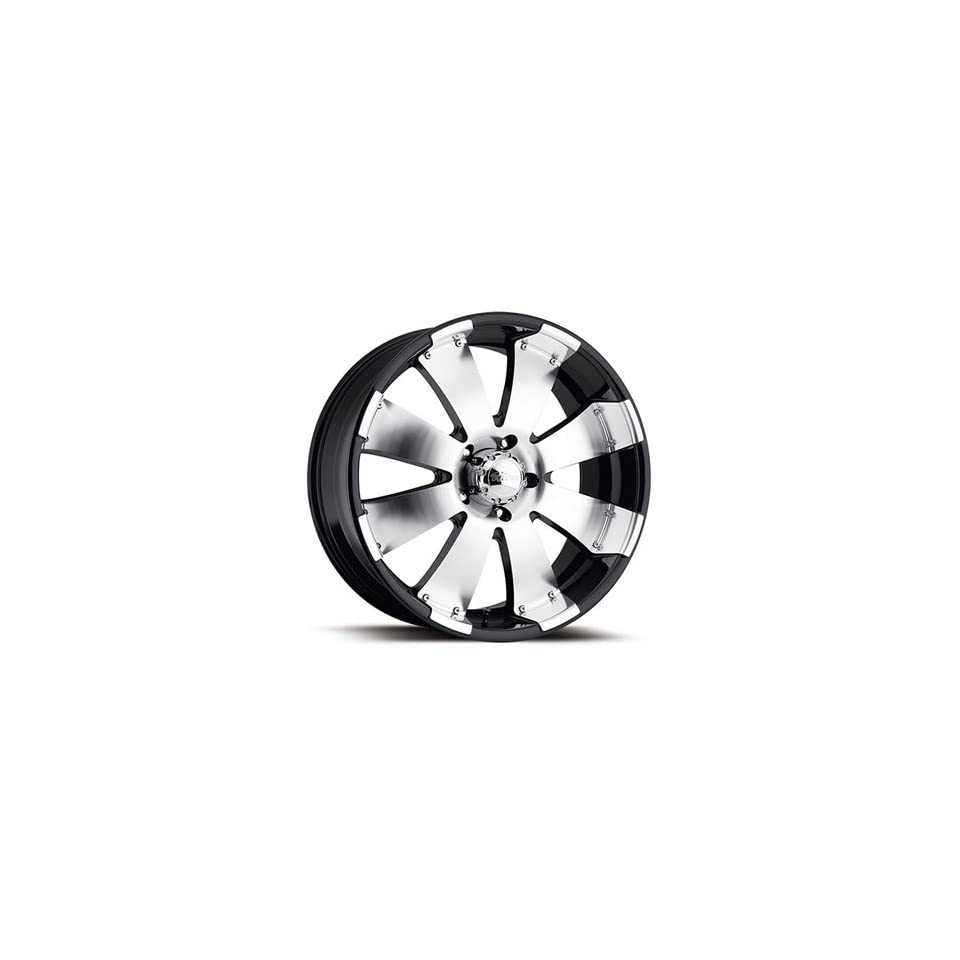 Ultra Mako 18x8.5 Machined Black Wheel / Rim 8x180 with a 35mm Offset and a 124.21 Hub Bore. Partnumber 243 8898B