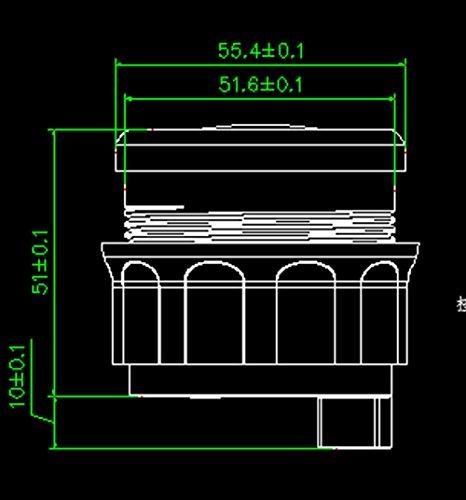 Samdo Universal 52mm Digital Fuel Level Gauge Meter 240-33ohm Signal Red Backlight 12V//24V