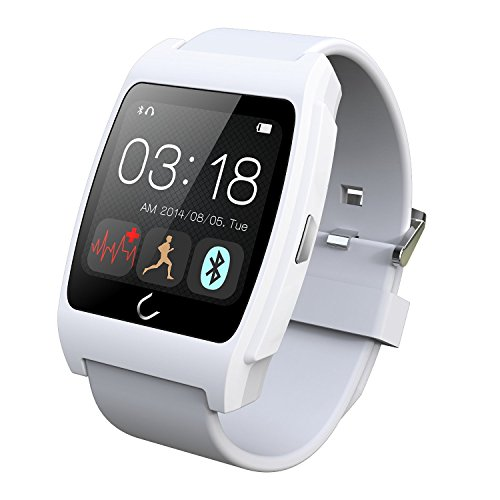 Luxsure® White Uwatch UX Smart Watch with Heart Rate ...