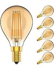 5X E14 Edison Lampen 4 W Filament LED Dimbaar Warm Wit 2700 K Vintage Lamp Super Briljant 400LM Amber Retro Lampen AC220V-240V