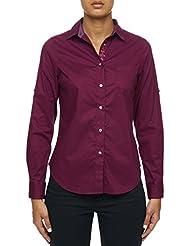 Robert Graham Willow-Solid L/S Woven Shirt Raspberry