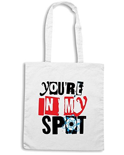 T-Shirtshock - Bolsa para la compra OLDENG00300 youre in my spot white Blanco