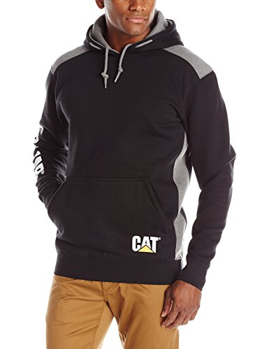 Caterpillar Logo Panel Hooded Sweatshirt, Black, 2X-Large
