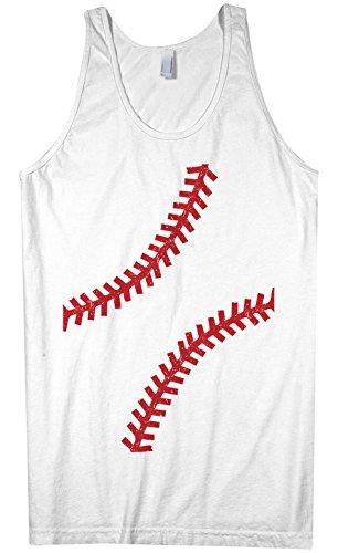Threadrock Men's Baseball seams Tank Top L White