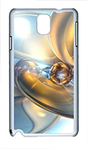 Abstract 3D Backgrounds Polycarbonate Hard Case Cover for Samsung Galaxy Note III/ Note 3 / N9000 White