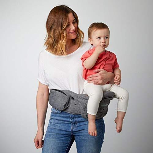 TushBaby The Original Hip Seat Baby Carrier, Grey by TushBaby (Image #4)