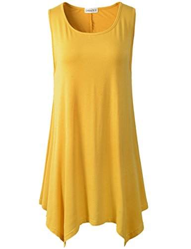 5b3d34fa5c6 LARACE Women Plus Size Solid Basic Flowy Tank Tops Summer Sleeveless Tunic  - Buy Online in UAE. | Apparel Products in the UAE - See Prices, Reviews  and Free ...