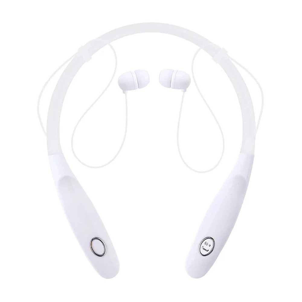 HuntGold Around the Neck Bluetooth Headphone Wireless Behind the Neck Headphone Can Stimultaneously Connect Multiple Devices Stereo Neck-Band Earset Sports Headset Headphones-3