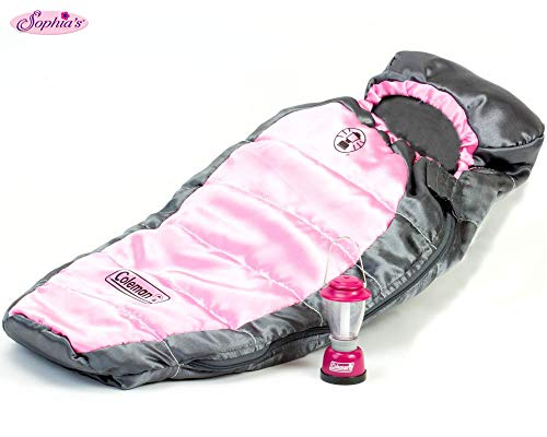 Sophia's Coleman Doll Sleeping Bag & Lantern Set, Perfect for The 18 Inch Camping American Girl Dolls & More! 18 Inch Coleman Doll Lantern and Sleeping Bag Set (American Girl Doll Night Light)
