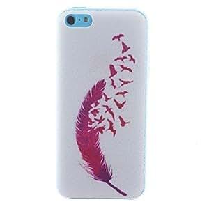 HC- estuche rígido de plumas patrón pc para 5c iphone
