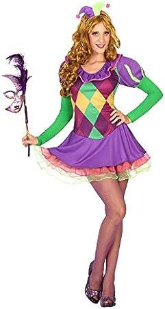 Atosa- Disfraz Mujer arlequín, Color Violeta, M-L (14768): Amazon ...