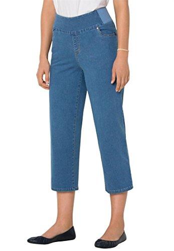 Waist Capri Jeans - 9