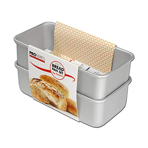 Fat Daddio's BP-SET Anodized Aluminum Bread Pan, 7.75 x 3.75 x 2.75 Inch, Set of 2, Silver (Ice Age 6 The Rise Of The Water)