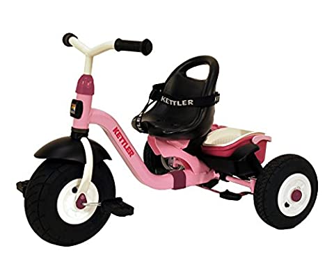 Kettler Happy Air Navigator Stella Convertible Tricycle with Push Handle for Steering and Toy Sand Bucket, Toddler Stroll and Ride - Kettler Push Bar