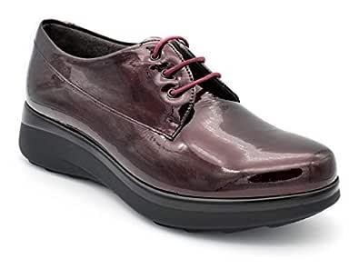 PITILLOS 5830 Zapato Cordones Charol Burdeos 60151 Pitillos