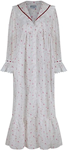 casa Rosa vestaglia cotone 100 1 Camicia U Amelia da stile Large perThe xxxxl Vintage notte for da Sconosciuto vittoriano XS xnUPOqw