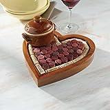 Wine Enthusiast Heart Shaped Corkboard/Cork Trivet Kit