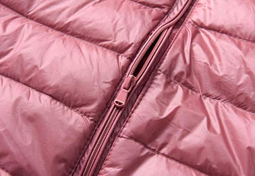 Ultra Leggero Zip Donne Piumini Delle Ttyllmao Packable Rosa D'oca nWIqxfXSB