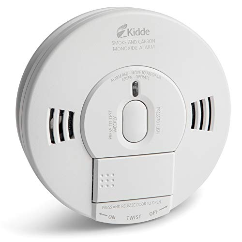 Kidde 21007624 AC Photoelectric Smoke and Carbon Monoxide Detector Alarm | Hardwired with Battery Backup | Model # KN-COPE-IC