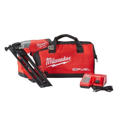 Cheap MILWAUKEE ELEC TOOL 2743-21CT 15-Gauge Angled Finish Nailer Kit