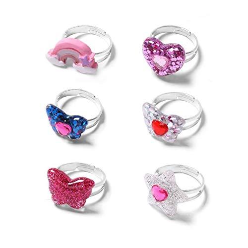 /Verstellbar Kleine M/ädchen Schmuck Set Kinder Ring/ /Kleinkind Rainbow Schmetterling Ring/