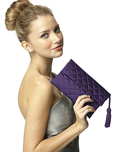 Tassel Women's Envelope Detail Quilted Clutch by Matching Dessy Concord with Purse RpFZqwR