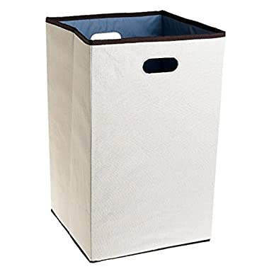 Rubbermaid Configurations Custom Closet Folding Laundry Hamper Natural, 23 , FG4D0602NATUR