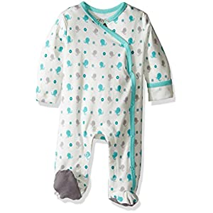 Babysoy Baby Organic Cotton Pattern Footie Pajamas (Octopus, 6-12 Months)