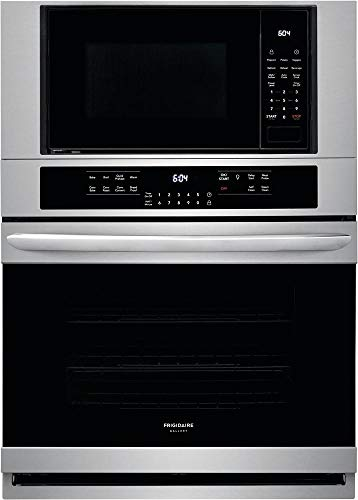 Frigidaire FGMC3066UF Gallery Series 30 Inch Electric Oven/Microwave Combo Double Wall Oven in Stainless Steel (Convection Microwave Frigidaire)