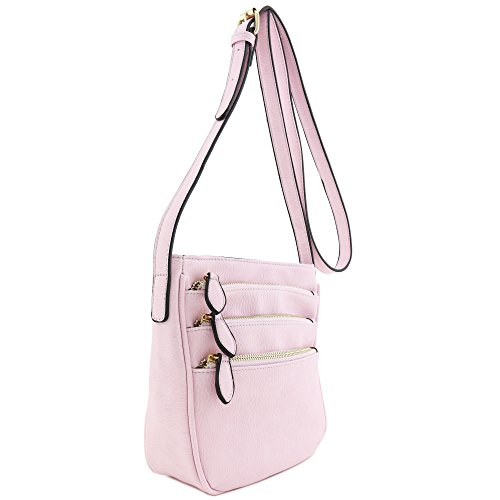 Bag Multi Functional Crossbody Medium Lilac Pocket Zipper q7SSw8XF