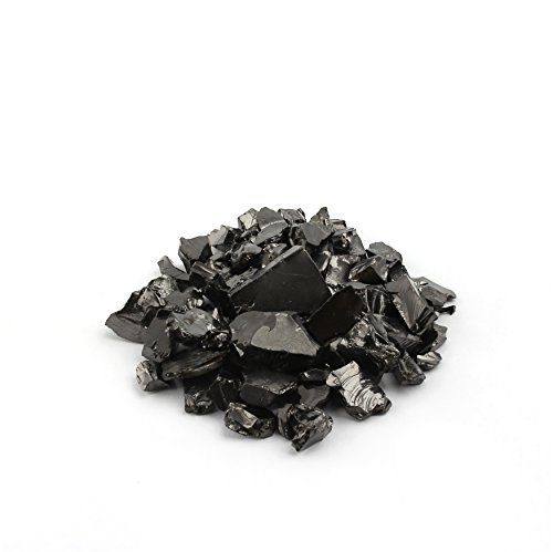 Elite Shungite Stones 100 Grams Natural Crystal Shiny Silver Coloured Guaranteed Authentic Rare Stone for Water Purification, Making Shungite Water & Natural Healing Chakra Reiki - Noble Rocks Russia ()