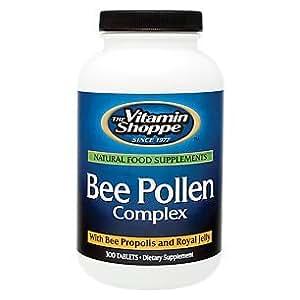 Amazon.com: the Vitamin Shoppe Bee Pollen Complex 300