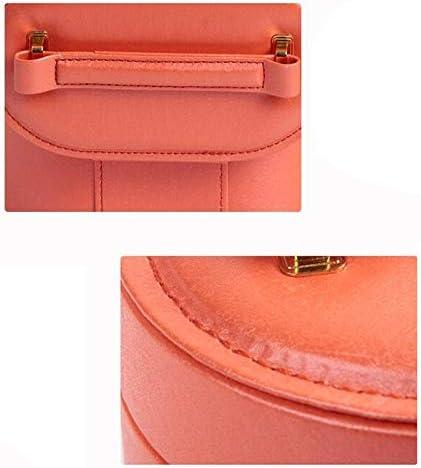 ZHAO YING Compatto Portatile Jewelry Box Anello Gioielli, Portagioie, Gioielli organizzatore, Portatile Custodia da Viaggio, for Gli Anelli, Orecchini, collane (Color : Pink) Red