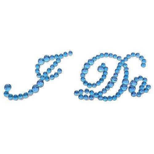 I DO BLUE Diamante Rhinestone Wedding Shoe Applique Stickers blu SKIDDOO TM