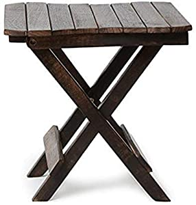 Hindoro Wooden Handicrafts Coffee Table (15x15x15 Inches, Black)