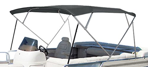 SUMMERSET by Eevelle Premium Bimini 4 Bow Canvas Top, 96 x 103-Inch, - Pontoon Boat Canvas