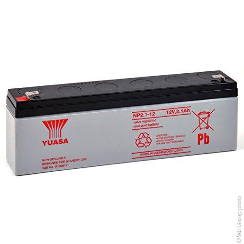Yuasa - Batterie plomb AGM NP2.1-12 12V 2.1Ah YUASA - Batterie(s)