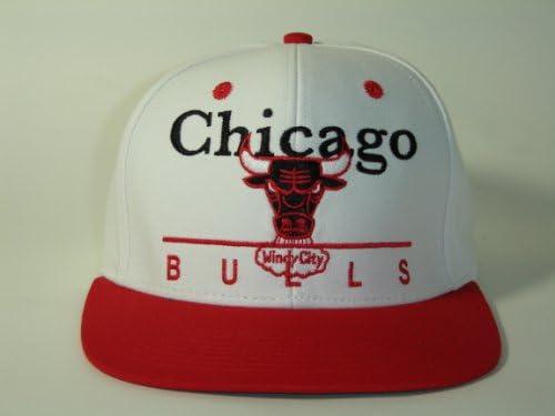 3921173eb9463b Amazon.com : NBA Chicago Bulls Block Script White 2 Tone Retro Snapback  Adidas : Sports Fan Baseball Caps : Sports & Outdoors
