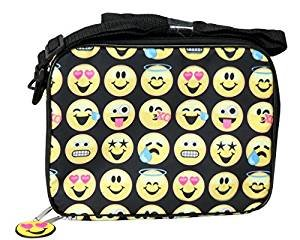 es Cry Sweat Smile face Soft Lunch kit box bag ()