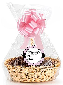 Light Pink 2Pack Designer Cello Bags / Tags / Bows Cellophane Extra Large Gift Basket Packaging Bags Flat 25