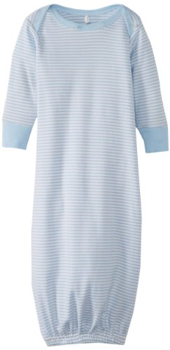 Pure Baby Unisex-Baby Newborn Sleepsuit-1, Pale Blue Stripe, New Born