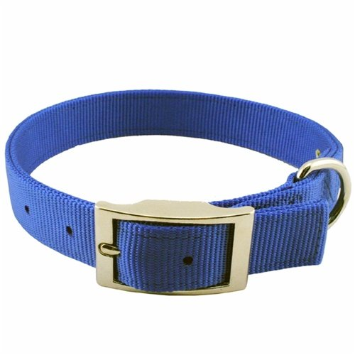 Guardian Gear 24-Inch Double-Layer Nylon Dog Collar, Blue, My Pet Supplies