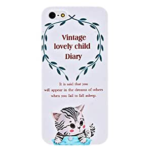 DUR Cute Kitten Pattern Hard Case for iPhone 5/5S